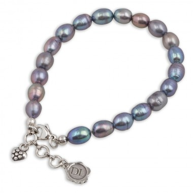 Dolce Luna Armband Purple Pearls